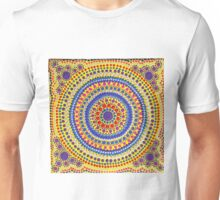 Mandala Hand Painted Dots - Colourful Unisex T-Shirt
