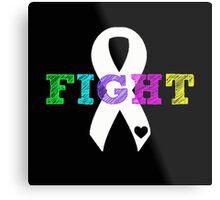 Fight Ribbon Metal Print