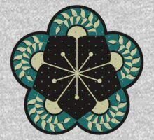 Geometric Heliconia Fan Pattern Kids Tee