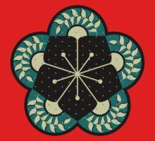 Geometric Heliconia Fan Pattern One Piece - Short Sleeve