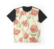 Peach Parrot Graphic T-Shirt
