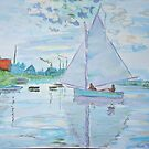 Study of Sailboat by Monet  by Kashmere1646