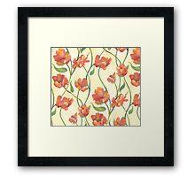 Peach Parrot Framed Print