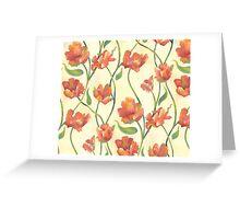 Peach Parrot Greeting Card