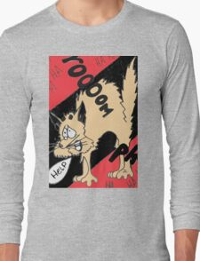 Scared Kitty Long Sleeve T-Shirt