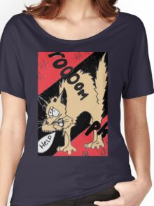 Scared Kitty Women's Relaxed Fit T-Shirt