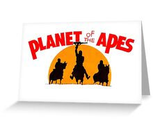 Planet of the Apes Retro Greeting Card