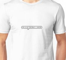 This Is Not The Reality That I Wanted - Jonghyun Unisex T-Shirt