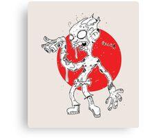 """GLUH"" said the zombie. Canvas Print"