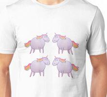 Mirrored Rainbow Unicorns Unisex T-Shirt