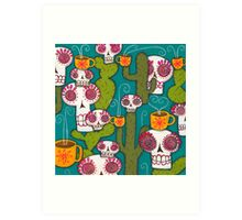 Skulls, Cacti and Atomic Coffee Art Print