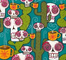 Skulls, Cacti and Atomic Coffee by Pink-Ivy