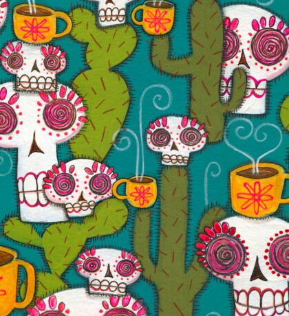 Skulls, Cacti and Atomic Coffee Sticker