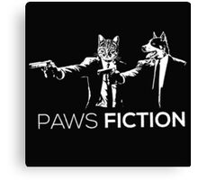Paws Fiction Canvas Print