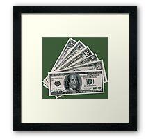 CASH MONEY Framed Print