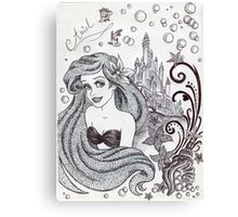 Monochrome Princess A Canvas Print