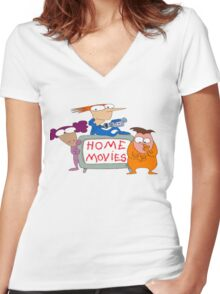 home movies 1 Women's Fitted V-Neck T-Shirt