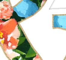 Floral Spring Ampersand Sticker