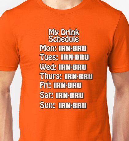 Irn drink schedule  Unisex T-Shirt