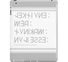 Dead Language iPad Case/Skin