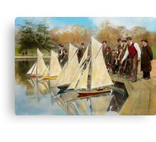 Boat - Sorry kids this ones mine 1910 Canvas Print