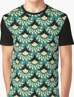Geometric Heliconia Fan Pattern Graphic T-Shirt