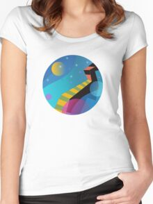 Stairway to Stars Women's Fitted Scoop T-Shirt