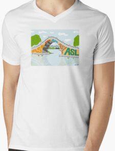 ASL Bridge - ASL Foundation Mens V-Neck T-Shirt