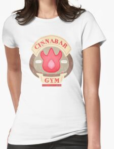 Pokemon - Cinnabar City Gym 'Feel the Burn' Womens Fitted T-Shirt