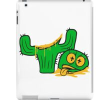 face funny horror halloween bloody murder from head decapitated blood evil cactus comic cartoon iPad Case/Skin