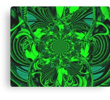 Psychedelic Green Gateway Canvas Print
