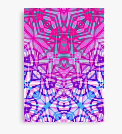 Fractal Art Stained Glass Canvas Print