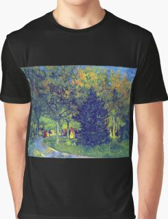 'Allee in the Park' by Vincent Van Gogh (Reproduction) Graphic T-Shirt