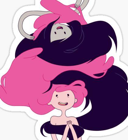 Marceline and Princess Bubblegum Hug Sticker