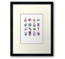 RPG Item Inventory Framed Print