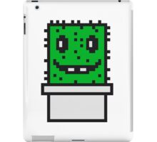 zocken face funny comic cartoon pixel nerd geek gamer videogame 2d 8 bit cactus design games iPad Case/Skin