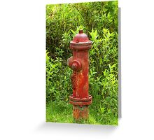 Rust Covered Fire Hydrant Greeting Card