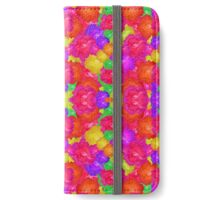 Multicolor Floral Check  iPhone Wallet/Case/Skin