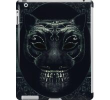 Creepy Mask Portrait with Ornate Borders iPad Case/Skin