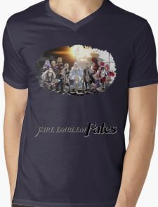 Fire Emblem Fates - Hoshido VS Nohr Mens V-Neck T-Shirt
