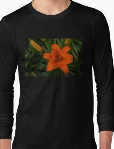 Hot Orange Lily  Long Sleeve T-Shirt