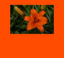 Hot Orange Lily  Womens Fitted T-Shirt