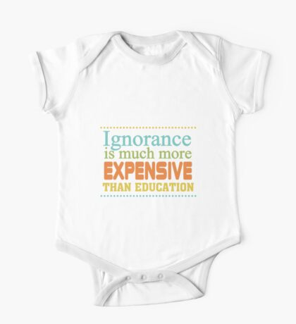Educational Text Quotes Sayings  One Piece - Short Sleeve