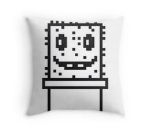 zocken face funny comic cartoon pixel nerd geek gamer videogame 2d 8 bit cactus design games Throw Pillow