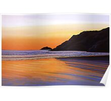Earth Sunrise Sea Painting Poster