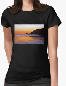 Earth Sunrise Sea Painting Womens Fitted T-Shirt
