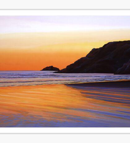 Earth Sunrise Sea Painting Sticker