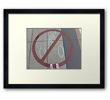 No Bicycles Framed Print