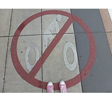 No Bicycles Photographic Print