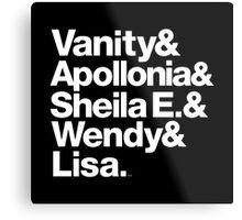 Prince Protégés Apollonia & Carmen Electra Helvetica Threads Metal Print